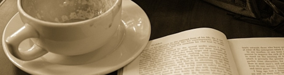 book coffee banner